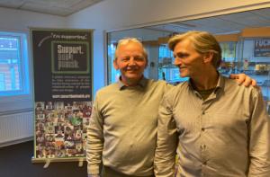 Afgående formand Jørgen Kjær og ny formand Sven Rasmussen